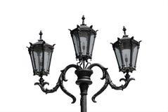 Decorative street lantern. Isolated on white Royalty Free Stock Photo