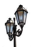 Decorative street lantern. Isolated on white Stock Photos