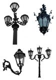 Decorative street lights Stock Images
