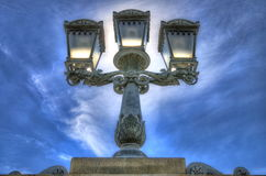 Decorative street lights Stock Photos