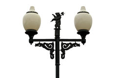 Decorative streetlight. Isolated on a white background Royalty Free Stock Image