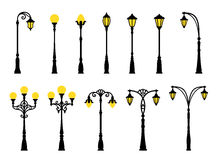Decorative streetlights Royalty Free Stock Photo