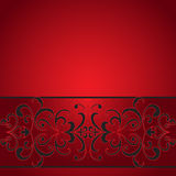 Decorative stripe on red Royalty Free Stock Photography