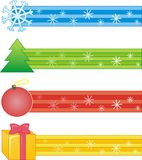 Decorative strips with the Christmas symbol Stock Photography