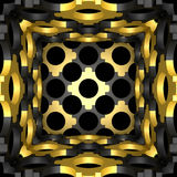 Decorative structural design backgrounds. 3D illustration. Decorative structural design backgrounds. Art object. 3D illustration vector illustration