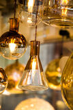 Decorative  style filament light bulbs Royalty Free Stock Photos