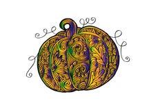 Decorative style of Pumpkin. Hand drawing illustration stock illustration