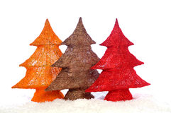 Decorative stylish christmas trees Royalty Free Stock Image