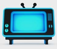 Decorative stylization of retro TV. 3D illustration. Decorative stylization of retro TV. Art object. 3D illustration Stock Image