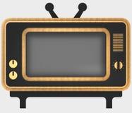 Decorative stylization of retro TV. 3D illustration. Royalty Free Stock Photography