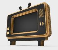 Decorative stylization of retro TV. 3D illustration. Decorative stylization of retro TV. Art object. 3D illustration Stock Photography