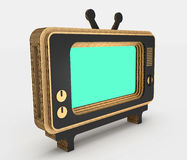 Decorative stylization of retro TV. 3D illustration. Decorative stylization of retro TV. Art object. 3D illustration Stock Photos