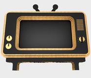 Decorative stylization of retro TV. 3D illustration. Decorative stylization of retro TV. Art object. 3D illustration Stock Photo