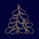 Decorative stylized Christmas tree Stock Images