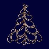 Decorative stylized Christmas tree Royalty Free Stock Images