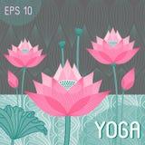 Decorative stylized lotus bud Stock Images