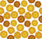 Decorative stylized marigold flower Royalty Free Stock Photography