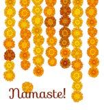 Decorative stylized marigold flower Stock Photo
