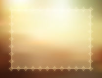 Decorative summer border Stock Photography