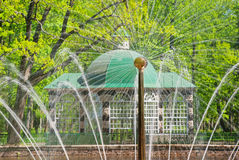 Decorative summer house in peterhof Stock Photography