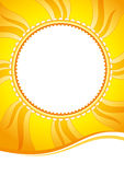 Decorative summer sunny vector background. Decorative vector background with sun-shaped element Royalty Free Stock Photos