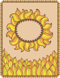 Decorative sun Stock Image