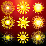 Decorative Sun Stock Photography