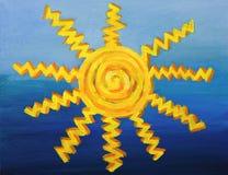 Decorative Sun Artwork Stock Photos