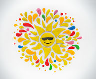 Decorative sun. Stock Image