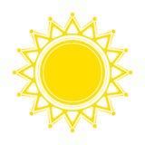 Decorative sun. Symbol shrovetide. Vector illustration Stock Photos