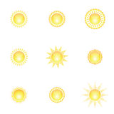 Decorative sun symbols. Stock Image