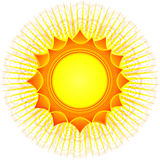 Decorative sun (vector) Stock Images