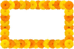 Decorative sunflower frame Stock Photography