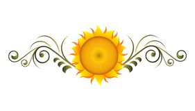 Decorative sunflower. Vector illustration of decorative sunflower isolated Stock Photos