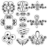 Decorative swirl elements Stock Images