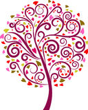 Decorative swirl floral tree, vector. Decorative swirl floral tree,  illustration Royalty Free Stock Photography
