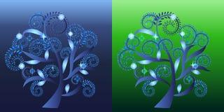 Decorative swirl tree Royalty Free Stock Photos