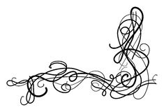 Decorative swirls. Abstract pattern made from swirls Royalty Free Stock Photo