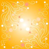 Decorative Swirls Bubbles Gold stock photography