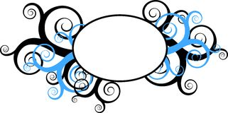 Decorative swirls with round frame Royalty Free Stock Photos