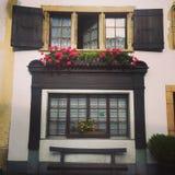 Decorative Swiss Windows Royalty Free Stock Images