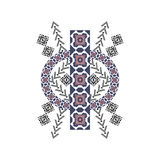 Decorative symmetric element for design and fashion in ethnic style Royalty Free Stock Photos