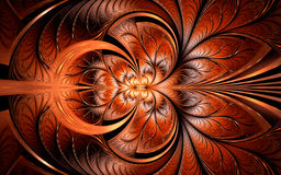 Decorative symmetrical brown background Royalty Free Stock Photos