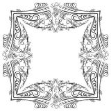 Decorative symmetry calligraphy pattern black Royalty Free Stock Images