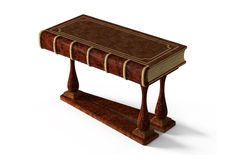 Decorative table in the form of ancient book Royalty Free Stock Images