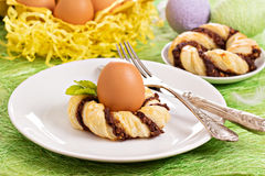 Decorative table setting for Easter Royalty Free Stock Photo