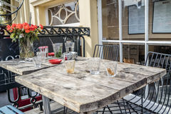 Decorative table in a street restaurant Stock Photography