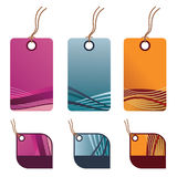 Decorative tags Stock Image
