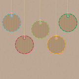 Decorative tags Royalty Free Stock Photography