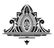 Decorative tattoo ornament. Decorative ornament with orient style elements. can be used as a part of tattoo Royalty Free Stock Image